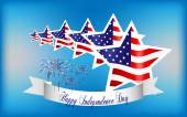 Happy Independence Day background, 4th of July — Stockvektor