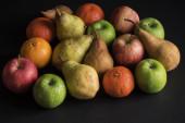 Fruit on black background — Stock Photo