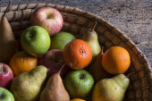 Fruits in a basket — Stock Photo