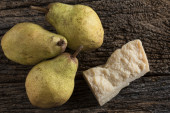 Cheese with pears — Stock Photo