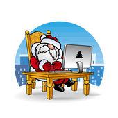 Дед Мороз Santa Claus отвечает на письма — Stock Vector