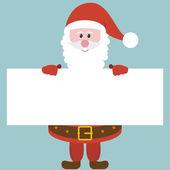 Santa holding paper — Vettoriale Stock