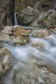 Waterfall in the rocks in the mountains, Monte Cucco NP, Appenni — Стоковое фото