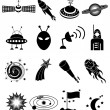 Space icons Set — Stock Vector #56770711
