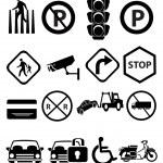 Traffic icons set — Stock Vector #56771531