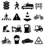 Traffic icons set — Stock Vector #56771535