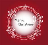 Marco de navidad feliz — Vector de stock