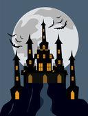 Halloween Castle Background — Stock Vector