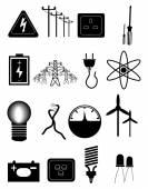 Power energy Icons Set — Stock Vector