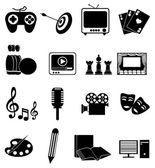 Entertainment Icons Set — Stock Vector
