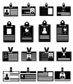 ID Cards Icons — Stock Vector