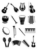 Music instrument Icons — Stock Vector
