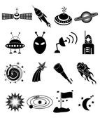 Space icons Set — Stock Vector