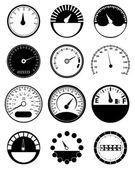 Speed Meter Icons Set — Stock Vector