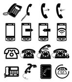 Call Telephone Icons Set — Stock Vector