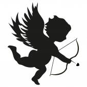 Cupid on white background — Vetorial Stock