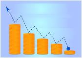 Money grow chart — Stock Vector