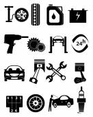 Auto Repairs Icons — Vector de stock