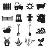 Farming Icons — Stock Vector