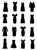 Ladies apparel icons set — Stock Vector
