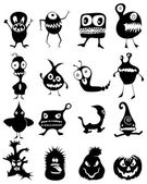Funny monster icons — Stock Vector