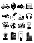 News reporter icons — Stock Vector