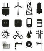 Power energy icons — Stock Vector
