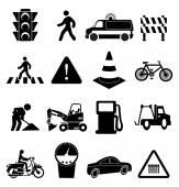 Traffic icons set — Stock Vector