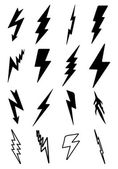Thunder bolt icons — Vetorial Stock