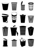 Recycle bin icons set — Stock Vector