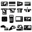 Credit card icons set — Stock Vector #59451503