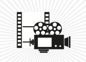 Cinema camera — Stock Vector