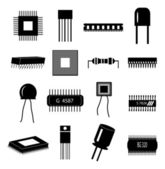 Circuit Electronics icons set — Vetorial Stock