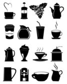 Coffee making icons set — Stock Vector