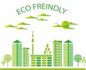 Green modern city living concept. — Stock Vector