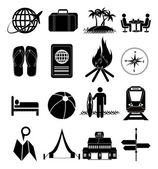 Travel holiday icons set — Stock Vector