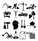 Heavy construction icons set — Stock Vector