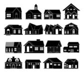 House real estate icons set — Stock Vector