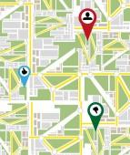 Map navigation — Stock Vector