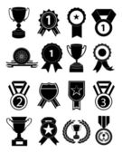 Awards medals icons set — Stock Vector