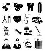 Medical services icons set — Stock Vector
