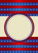 Patriotic Frame border — Vettoriale Stock