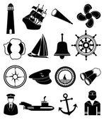 Sailor nautical icons set — Stock Vector