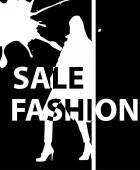 Kvinna shopping — Stockvektor