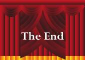 The end curtain background — Stock Vector