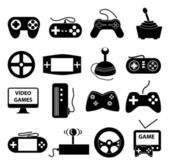Video game icons set — Stock Vector