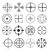 Aim target icons set — Stock Vector
