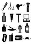 Saloon barbershop icons set — Wektor stockowy