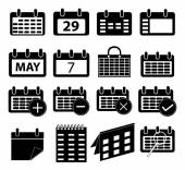 Calender icons set — Stock Vector