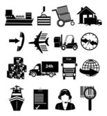 Delivery shipping icons set — Stock Vector